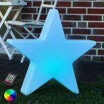 Dekorativ LED-stjerne Shining Star, RGB, 80 cm