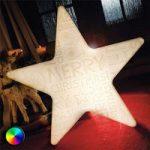 LED-stjerne Shining Star Merry Christmas