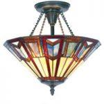 LILLIE – loftslampe i Tiffany stil