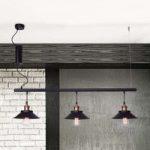 Rustik hængelampe Orumbo, 3 lyskilder
