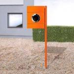 Letterman II m. stolpe og avisrum, orange