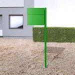 Letterman IV, m. stolpe, grøn