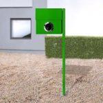 Perfekt brevkasse Letterman XXL m. stolpe, i grøn
