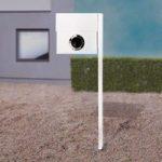 Perfekt brevkasse Letterman XXL m. stolpe, hvid