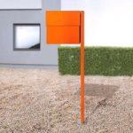 Bred brevkasse Letterman XXL II m. stolpe, orange