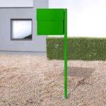 Bred brevkasse Letterman XXL II m. stolpe, grøn