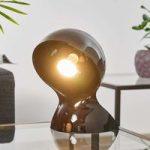 Sort design-bordlampe Dalù