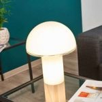 Design-bordlampe Onfale medio i glas