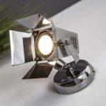 Teknisk LED væglampe Movie, krom