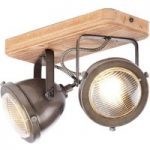 Carmen Wood – loftlampe i industrilook med 2 lys