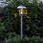 Smuk LED solcellelampe Sarina rustfrit stål 66 cm