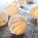 Delikat LED-lyskæde Paper Flower