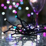 Multifarvet lysende LED-lyskæde Party udendørs