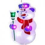 Vinduessilhouette Snemand med LED-belysning