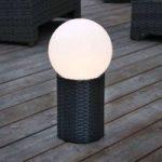 LED solcellekugle Lug med sokkel, Ø 15 cm