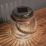 Solcelledrevet LED bordlampe Jar i glas