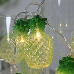 Sjov designet LED-lyskæde Ananas, 10-delt