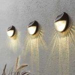 Fency – LED-solcellevæglampe 3 i et sæt