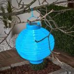 LED solcelle-lampion Jerrit 20 cm, blå