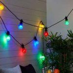 Farverig 10 lyskilder LED-lyskæde Circus
