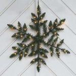 Batteridrevet LED udendørsdekoration Snowflake