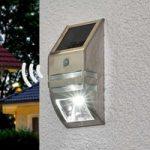 Soldreven LED væglampe Sol WL-2007 m. bevæg.sensor