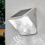"""Soldreven LED væglampe """"SOL 04"""" – med IP44, i hvid"""