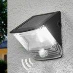 """Soldreven LED væglampe """"SOL 04"""" – IP44, sort"""