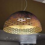 Effektfuld LED metal pendellampe Greka