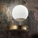 Pragtfuld LED væglampe Sfera i guld