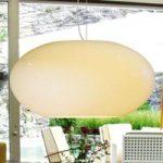 Hængelampe i glas AIH 38 cm cremefarvet skinnende