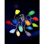 Designer-loftlampe Poli Po i krom med 12 lyskilder
