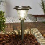 Komfortabel solcellelampe Rosie i stål med LED
