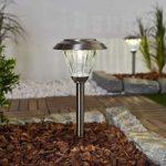 Rustfrit stål – LED-solcellelampe Venja, 2'er sæt
