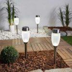 Dekorativ LED-solcellelampe Larry i sæt m. 4 stk