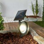 LED spot Riley med jordspyd og solcellepanel