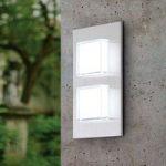 LED-udendørsvæglampe Pias, 2 lyskilder