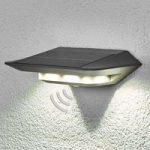 Solcelle LED væglampe Ghost m. bevægelsessensor