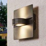 Antracitfarvet LED udendørs væglampe Split