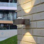 Udendørsvæglampe Crystal i rustfrit stål med LED