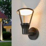 LED udendørs væglampe Ladi med industrielt strejf