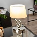 Glansfuld tekstil bordlampe Evolution