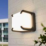 Kvadratisk formet LED udendørs væglampe Armor