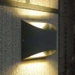 Halvrund LED udendørs væglampe Dodd af aluminium