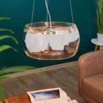 Equatore – fornem pendellampe med glasskærm