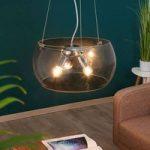 Hængelampe Equatore med klart glas