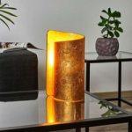 Bordlampe Imagine med gylden glasskærm