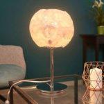 Kugleformet bordlampe Iceberg – 37 cm høj