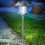 Swing solcellelampe i rustfrit stål