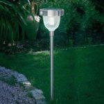 Asinara solcelle-PIR-lampe i rustfrit stål